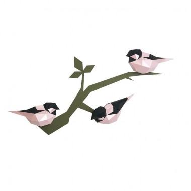 """3D-конструктор """"Птички"""" (розовые)"""