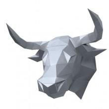 Бык Алёша (серебряный) 3D-конструктор