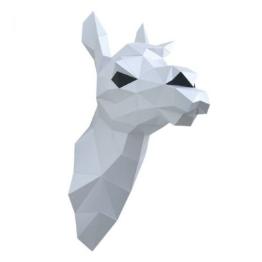 """3D-конструктор """"Лама Снежана"""" (белая)"""