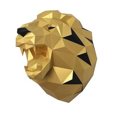 Лев Николаевич (золотой) 3D-конструктор