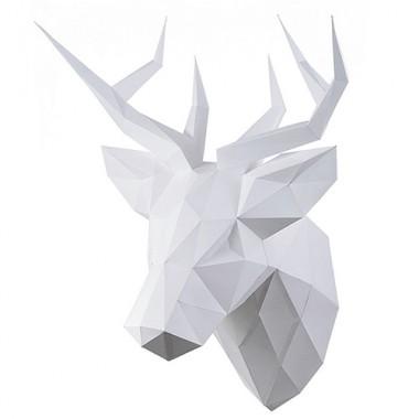 Олень Петрович (белый) 3D-конструктор