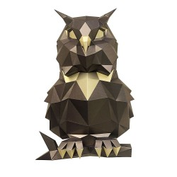 Сова Пухля (бронзовая) 3D-конструктор