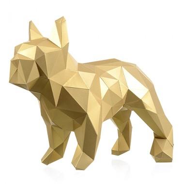 Бульдог Марсель (золотой) 3D-конструктор