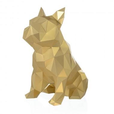 Бульдог Жульен (золотой) 3D-конструктор