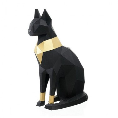 """3D-конструктор """"Кошка Бастет"""" (чёрный)"""