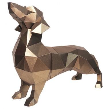 Такса Алекс (бронзовый) 3D-конструктор