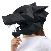 """3D-конструктор """"Маска Волк"""" (чёрный)"""