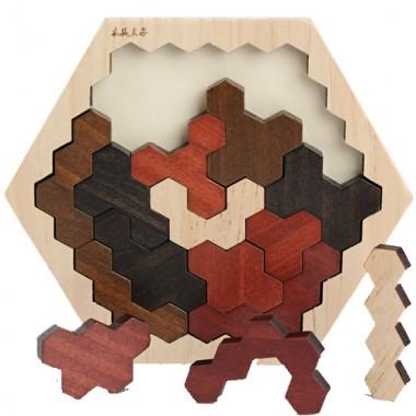 Деревянная головоломка пазл Соты