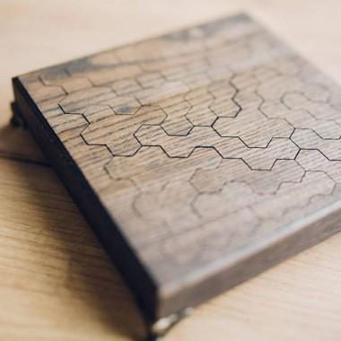 Деревянный пазл Brain Teaser Honey Combs Дуб