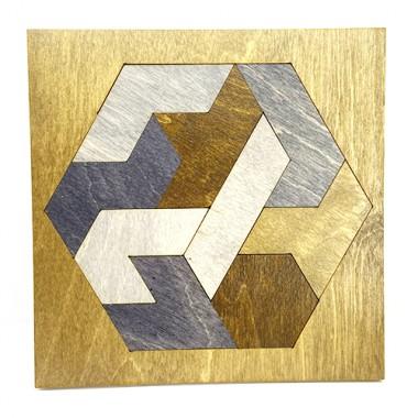 Деревянный пазл Brain Teaser Polygon