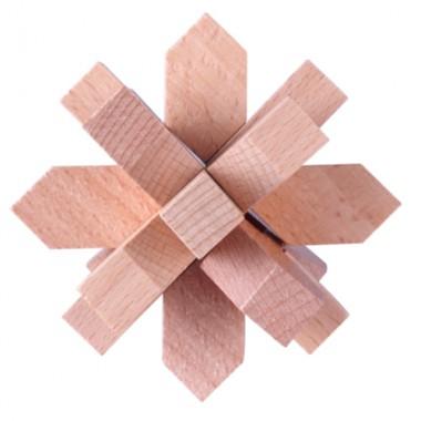 Деревянная головоломка Wood Box Цветок