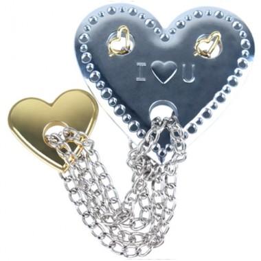 Металлическая головоломка Два Сердца