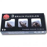 Набор металлических головоломок 3 Brain Puzzles