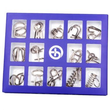 Набор металлических головоломок Butebuy 15 синий