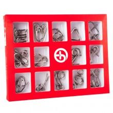 Набор металлических головоломок Butebuy 15 красный