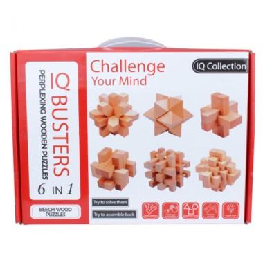 Набор деревянных головоломок IQ Boosters 6