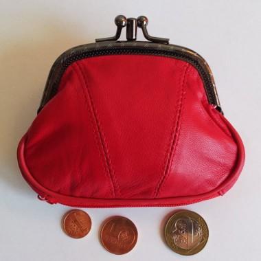 Монетница кожаная (3 отделения)