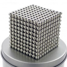 Неокуб 1000 шариков 5 мм, стальной в металлической коробке