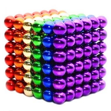 Неокуб 6 мм радуга в металлической коробке