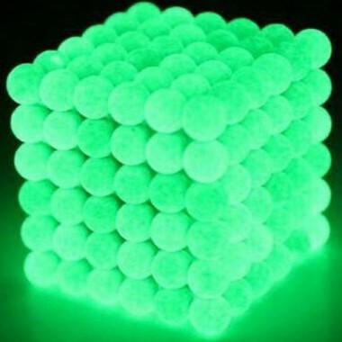 Неокуб светящийся 5 мм, стальной в металлической коробке