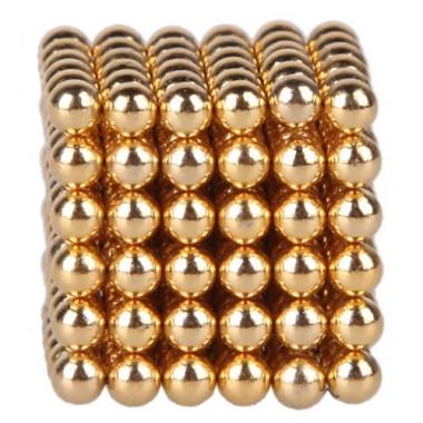 Неокуб 5 мм, золотистый в металлической коробке