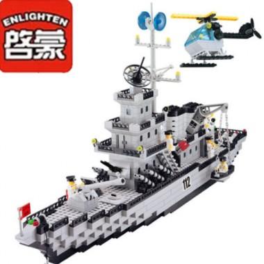 Конструктор Enlighten Военный Корабль 112