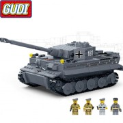 Конструктор Gudi German King Tiger Tank 6104