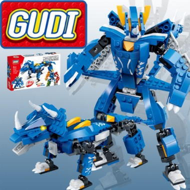 Конструктор Gudi Transformer Dinosaur 8724