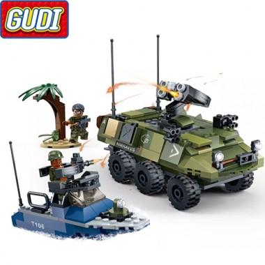 Конструктор Gudi Tiger Action 8033