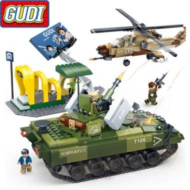Конструктор Gudi Tiger Action 8037