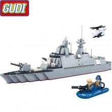 Конструктор Gudi Военный корабль 8028