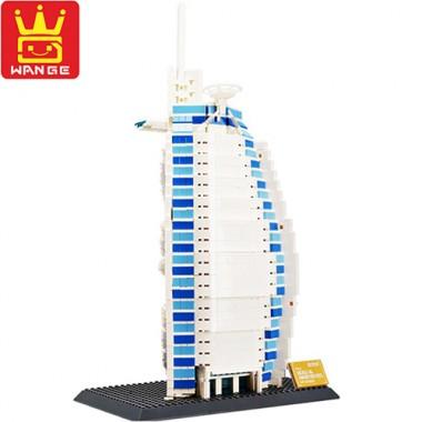 Конструктор Wange The Burj Al Arab Hotel Of Dubai 8018
