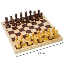 Шахматы обиходные лакированные арт.309