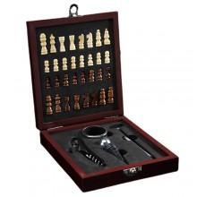Набор для вина, 4 предмета с шахматами