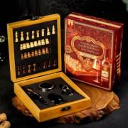 """Подарочный набор для вина с шахматами """"Истина в вине"""""""