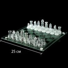 Шахматы прозрачные Стеклянная доска