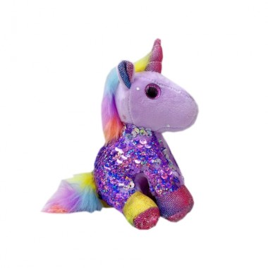 Брелок Единорог с пайетками фиолетовый (кигуруми)